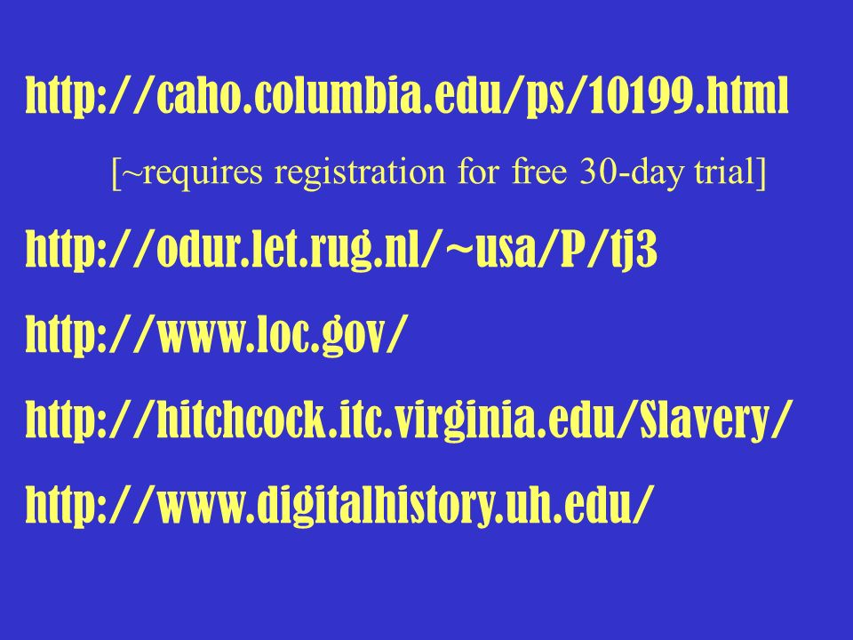 http://caho.columbia.edu/ps/10199.html [~requires registration for free 30-day trial] http://odur.let.rug.nl/~usa/P/tj3.